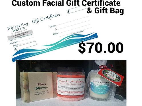 Custom Facial +Free Gift Bag