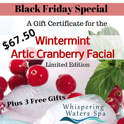 Wintermint Artic Cranberry Facial Black Friday Gift Certificate Special