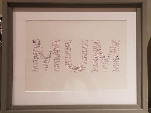 Word Art Mum