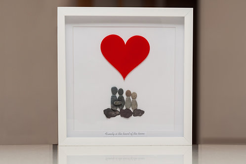 Family Pebble art, personalised birthday, Mothers Day gift.