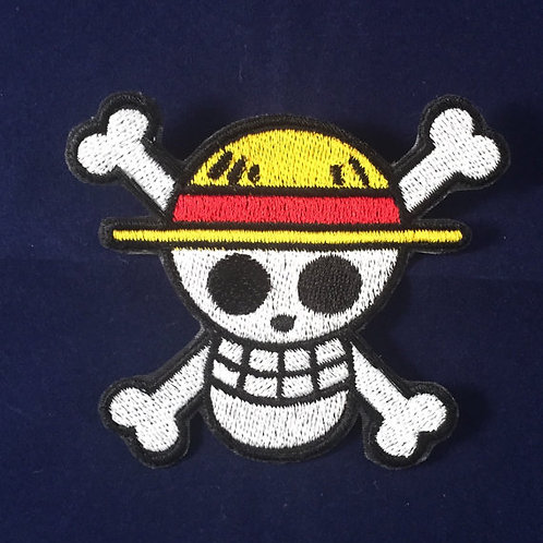 One Piece Straw Hat Pirate Skull Patch