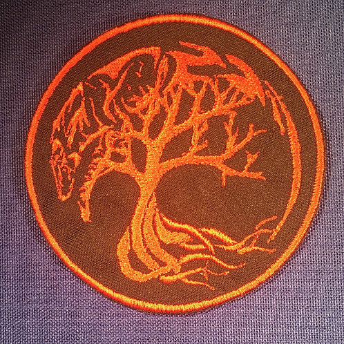 Tree of Life with Wolf Spirit Patch