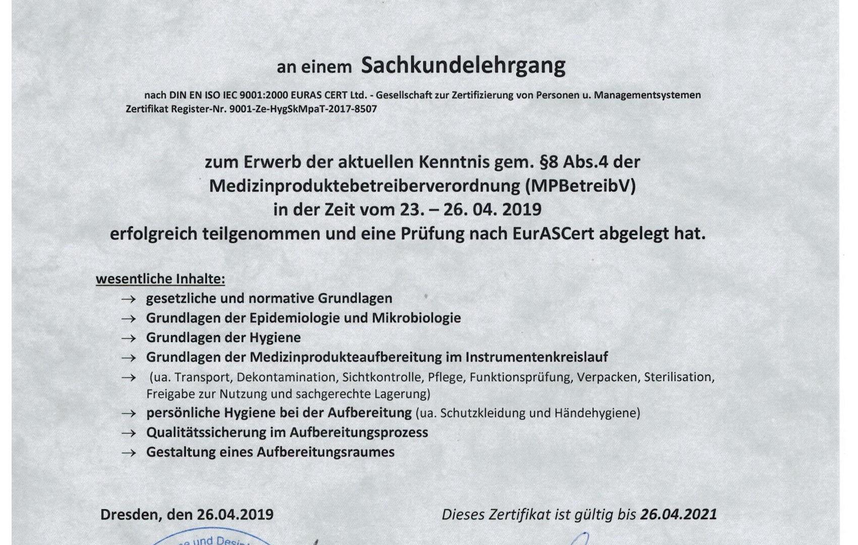 Zertifikat_Sachkunde_Medizinprodukteaufbereitung