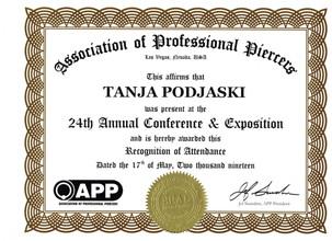 Zertifikat APP 2019