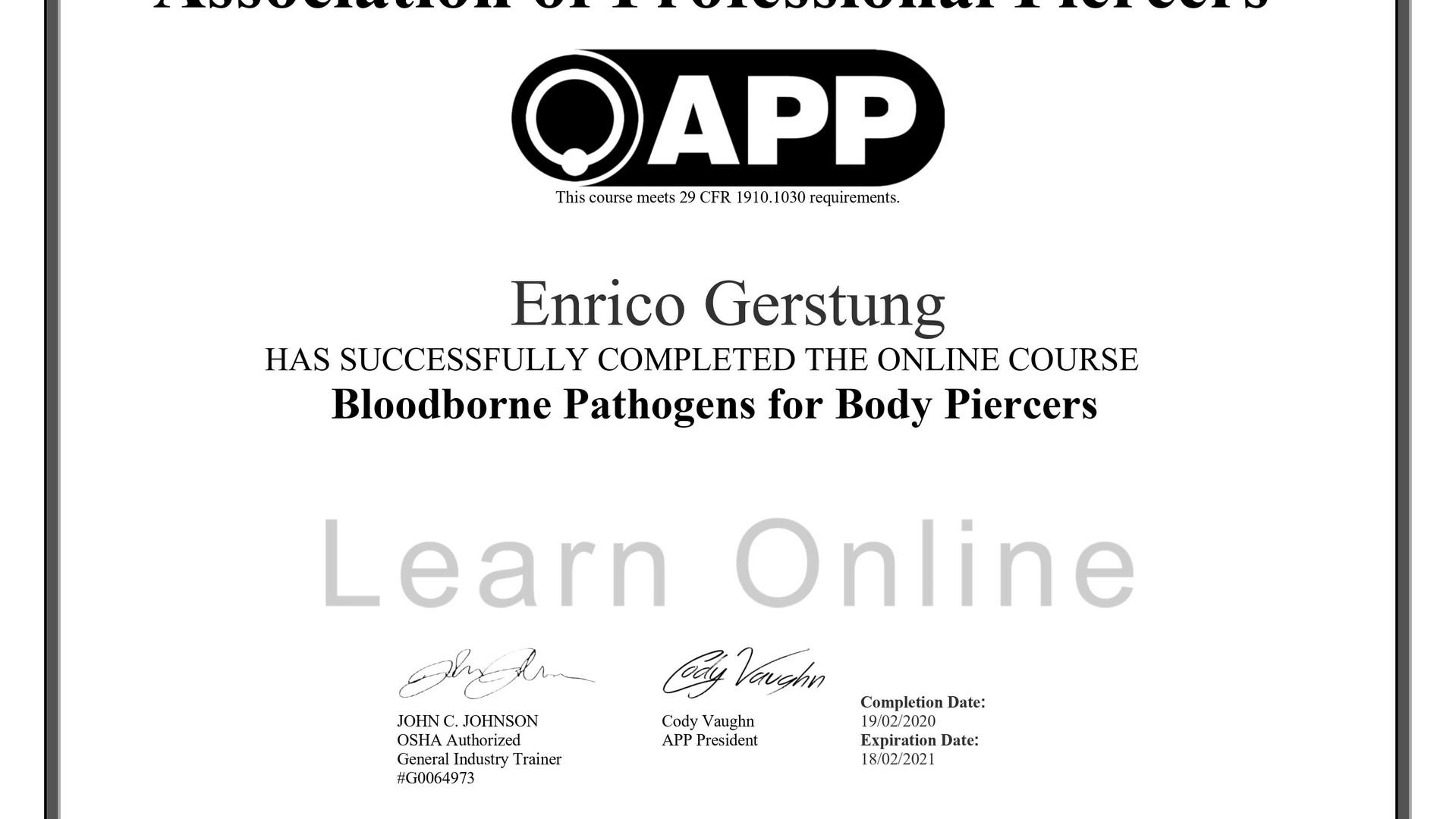 boodborne pathogens Enrico - 2020