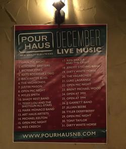 Pour Haus Schedule December