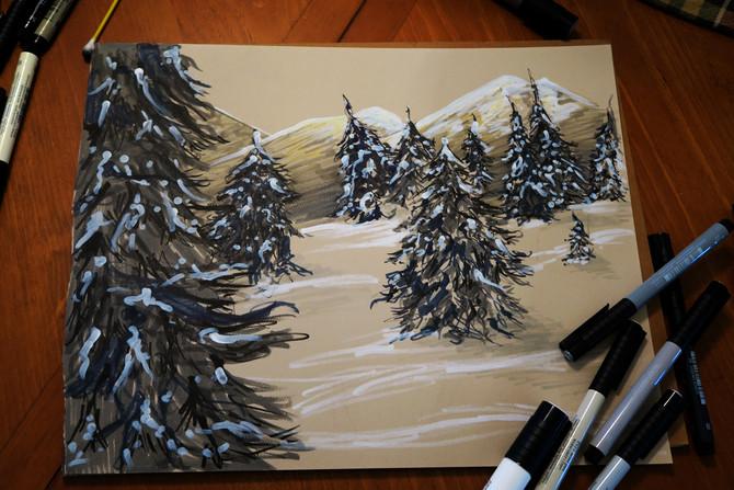 Winter Sketch // Speed Draw