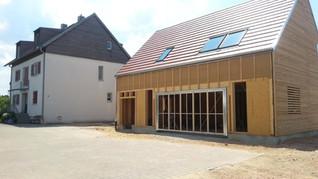 Bau Holzhaus