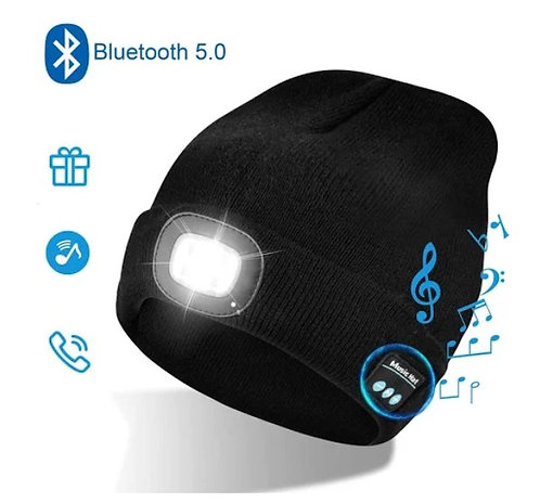 BTB02 Beannie Hat With LED Light And BT Speaker
