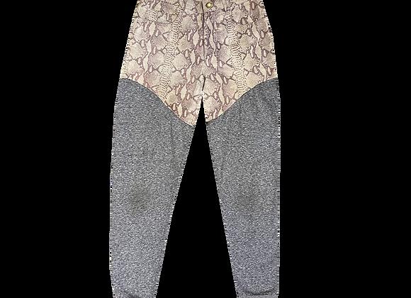 Archive Snakeskin Half-and-Half Sweatpants