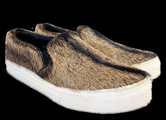 Archive Celine Pony Hair Slip-On Shoes
