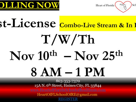 Combo - In person & Live streaming Class