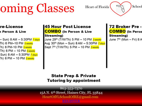 2021 Upcoming Classes