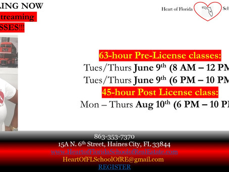 Classes START THIS TUES. June 9th It's not to late to register and get a ebook