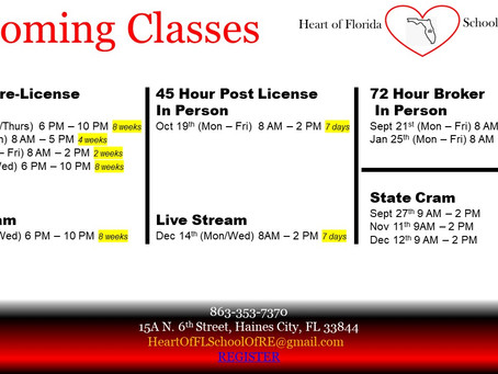 Updated upcoming classes