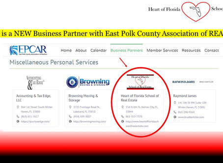 NEW Business Partner with East Polk County Association of REALTORS