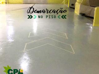 Pintura Poliuretano em Estacionamento e Demarcações de Sinalização.