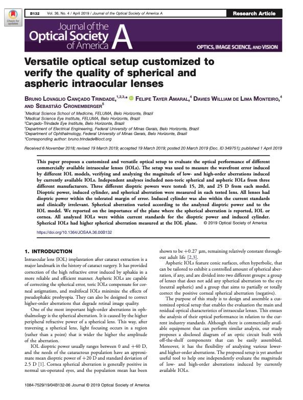 Versatile optical setup customized to ve
