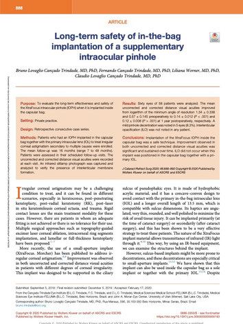 Long-term safety of in-the-bag implantat