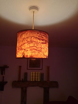 lamp shade switched on