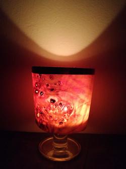 Wine glass candle light, Poplar