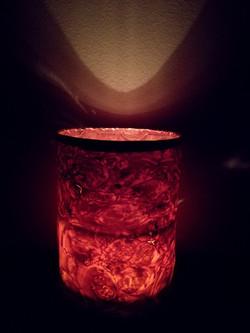 tube candle light, maple veneer.