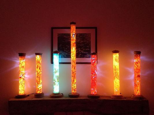 hand made, veneer lamps