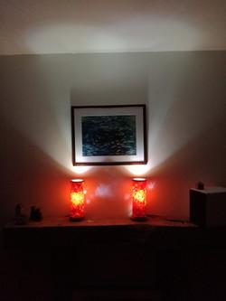 chestnut veneer lamps