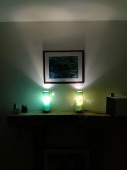 Poplar lamps on shelf