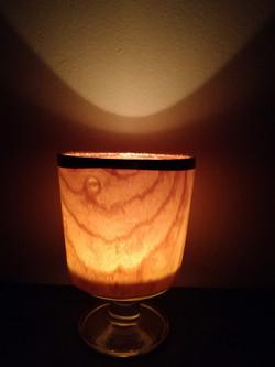 Wine glass candle light, Ash.