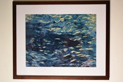 Framed print, Blue Whale,