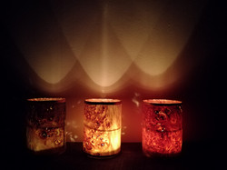 Set of 3 tube candle lights.