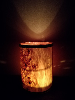 tube candle light, Poplar veneer.