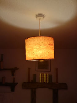 lamp shade switched on , click to go to shop