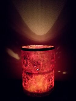 Tube candle light,