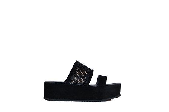 Mist Black Sandals