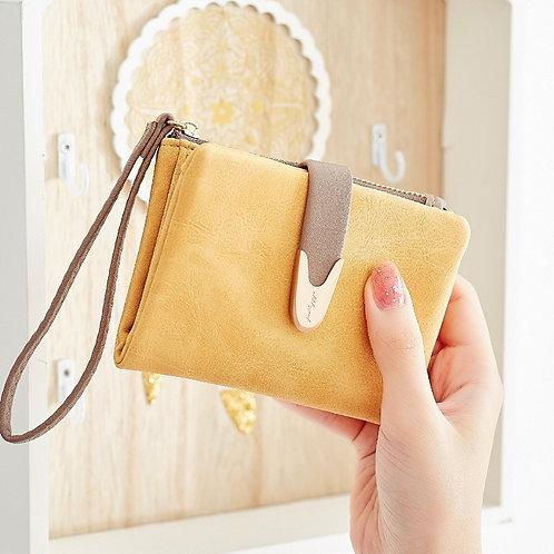 レディース三つ折りPUレザー財布