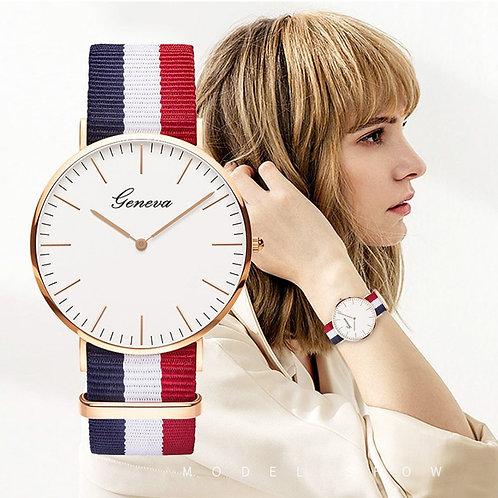 カジュアル、シンプル、薄いファッション, クォーツレディース時計