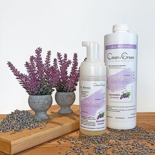 Lavender  Hand Soap - 100% Natural (150 ml + 475 ml Refill)