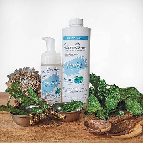 Cool Mint Foaming Hand Soap - 100% Natural (150 ml + 475 ml Refill)