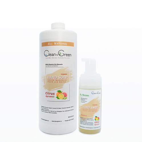 Foaming Hand Soap - 100% Natural (150 ml + 960 ml Refill)