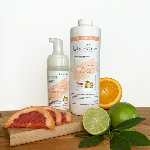 Citrus Foaming Hand Soap - 100% Natural (150 ml + 475 ml Refill)