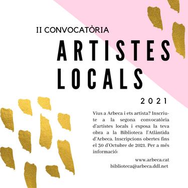 II CONVOCATÒRIA ARTISTES LOCALS