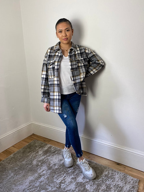 Grey Flannel Oversized Shirt