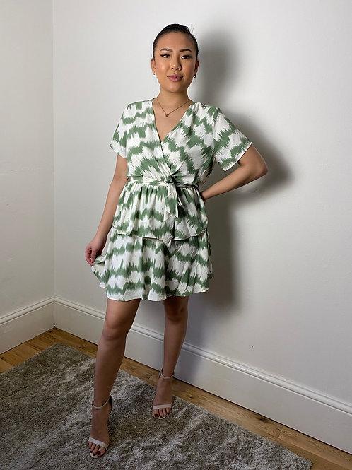 Willow Green Wrap Dress