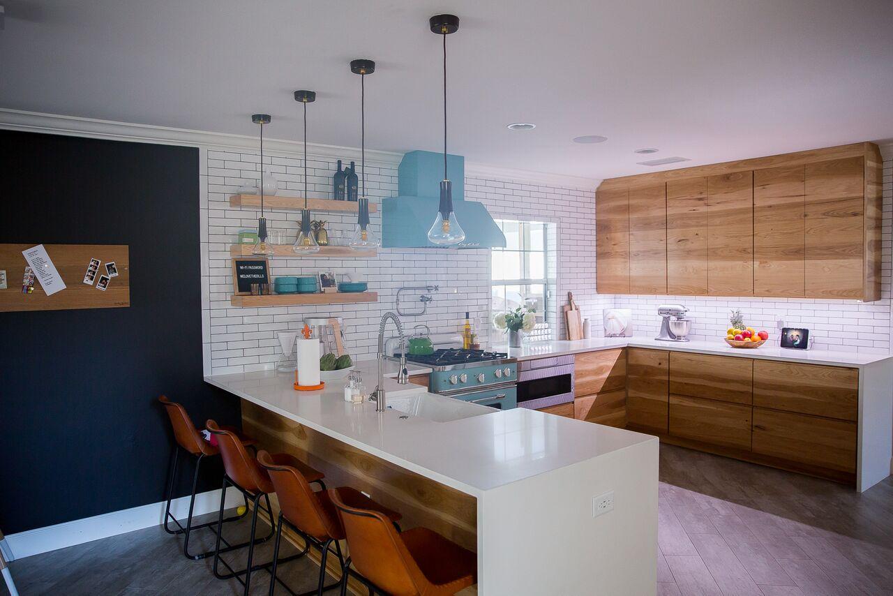 custom hickory kitchen