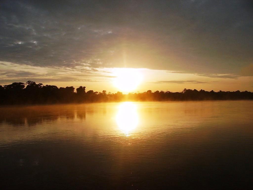 por-do-sol rio Mamoré Pakaas