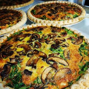 Mushroom, Spinach, Swiss Quiche