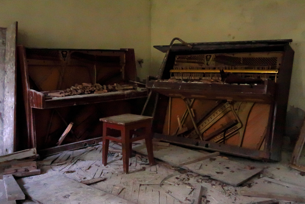 Exclusion Zone 121 - Old Pianos