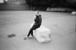35mm black & white lomography lomo lc-a+ kosmo foto mono niall in his nikes